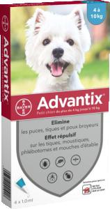 ADVANTIX S ext  petit chien 4-10kg