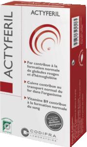 Actyferil Complément alimentaire à base de fer, cuivre et vitamines.
