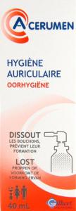 Acerumen spray hygiène auriculaire