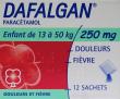 Dafalgan 250 mg, poudre effervescente pour solution buvable en sachet